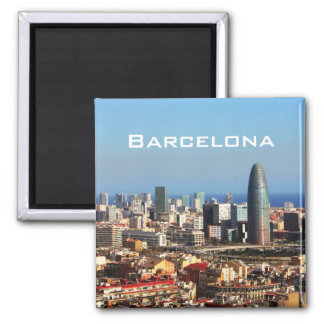 Paisaje urbano de Barcelona Imán De Frigorífico