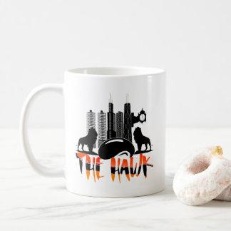 Paisaje urbano de Chicago la taza de café del