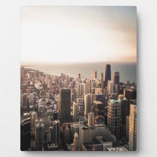 Paisaje urbano de Chicago Placa Expositora