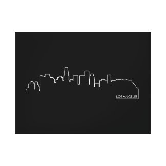 Paisaje urbano de Los Ángeles Impresión En Lona
