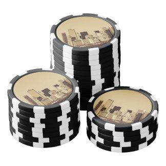 Paisaje urbano de Nueva York Fichas De Póquer