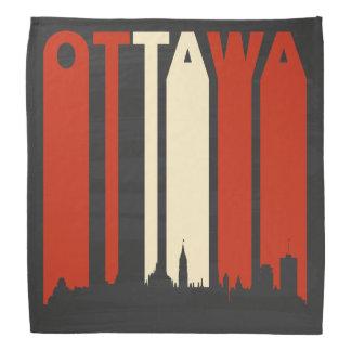 Paisaje urbano de Ottawa del vintage Bandanas