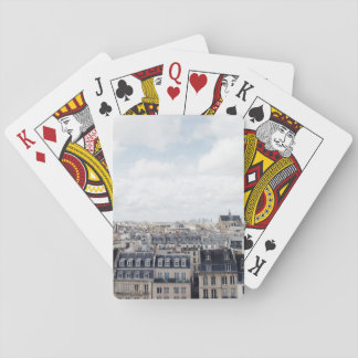 Paisaje urbano de París Francia Baraja De Cartas