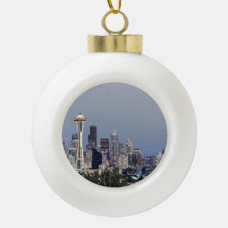 Paisaje urbano de Seattle Adorno De Cerámica Tipo Bola