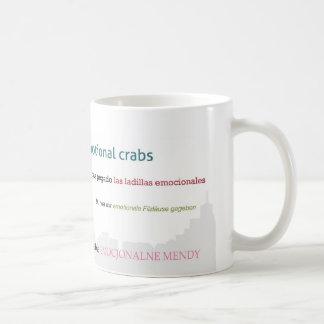 Paisaje urbano emocional de los cangrejos taza de café