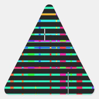 Paisaje urbano reconstruido pegatina trianguladas personalizadas