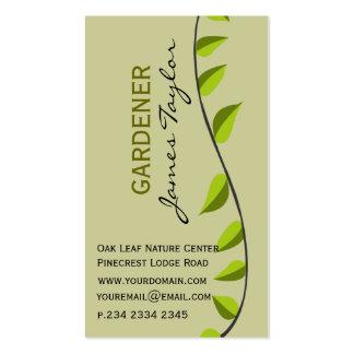 Paisaje verde que cultiva un huerto de la hoja del tarjetas de visita