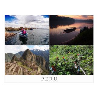 Paisajes de Perú en recuerdo del collage Postal