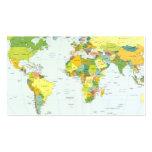 Países del atlas del globo del mapa del mundo plantillas de tarjeta de negocio