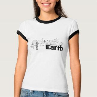 Países del mundo (blanco y negro) camisetas