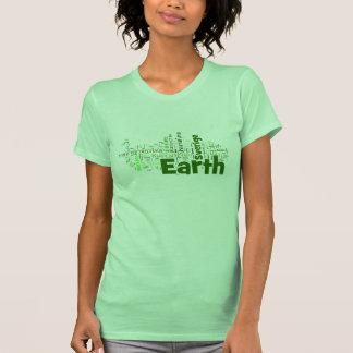 Países del mundo (verde) camiseta