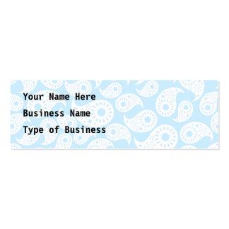 Paisley azul blanca y en colores pastel tarjetas de visita mini