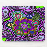 Paisley púrpura psicodélica Mousepad Tapete De Raton