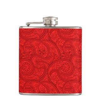 Paisley roja petaca