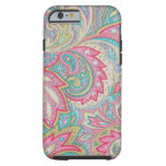 Paisley rosada funda de iPhone 6 tough