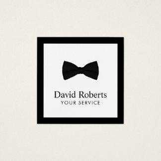 Pajarita negra elegante minimalista moderna tarjeta de visita cuadrada