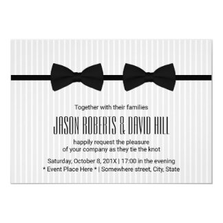 Pajaritas gay del doble del boda clásicas invitación 12,7 x 17,8 cm