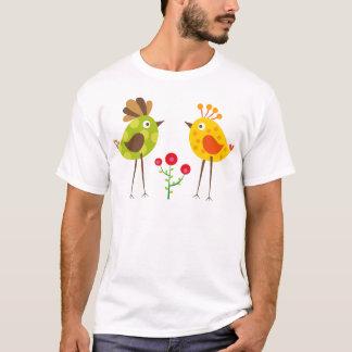 pájaro 2 del polkadot camiseta
