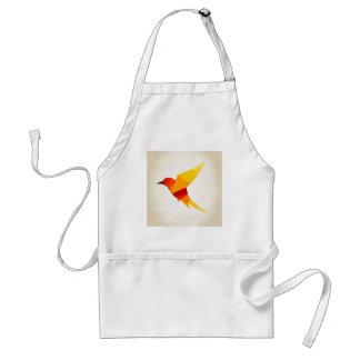 Pájaro abstraction4 delantal