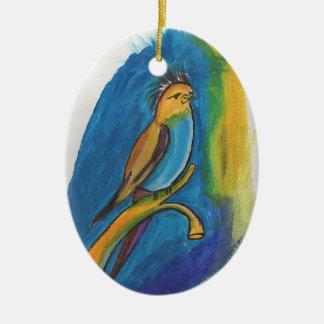 Pájaro africano adorno de cerámica