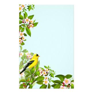 Pájaro americano del Goldfinch en efectos de Papelería