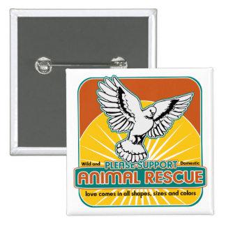 Pájaro animal del rescate pin
