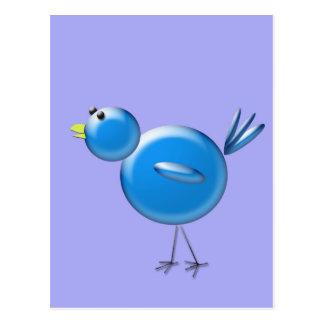 Pájaro azul de la felicidad… postal