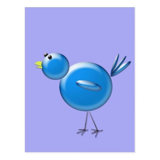 Pájaro azul de la felicidad… postales