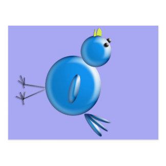 Pájaro azul de la felicidad… tarjetas postales