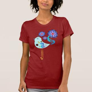 Pájaro azul de la primavera del camisetas de la fe