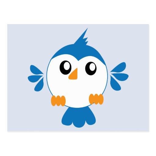 Pájaro azul de Lil Postales
