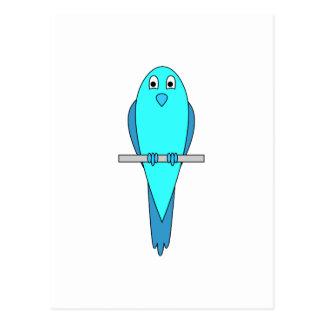 Pájaro azul del Parakeet Postal