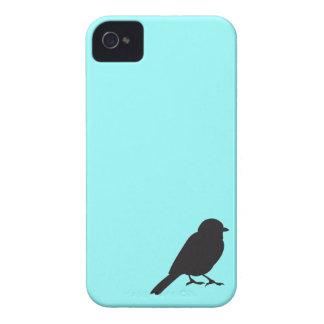 Pájaro azul elegante del trago de la silueta del iPhone 4 Case-Mate carcasas