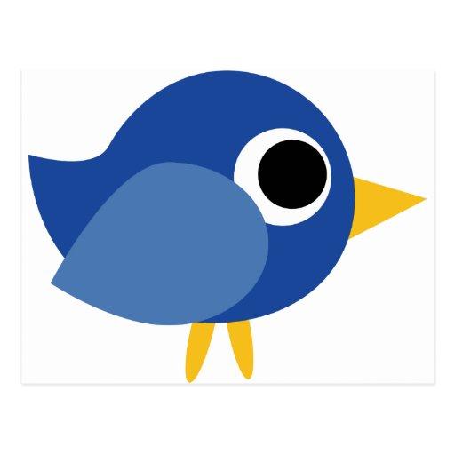 Pájaro azul lindo postales
