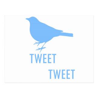 Pájaro azul, pío, diseño divertido postal
