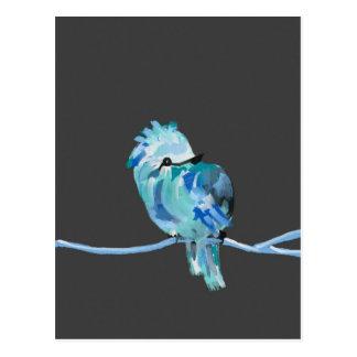 Pájaro azul postal