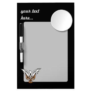 Pájaro céltico pizarra blanca con espejo