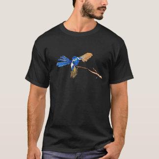 Pájaro de hadas azul de baile del australiano del camiseta