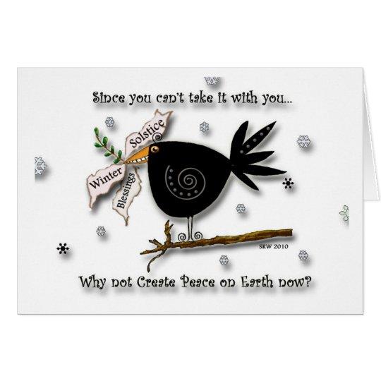 Pájaro de la paz tarjeta pequeña