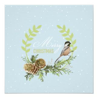 Pájaro de la tarjeta de Navidad, Navidad de los Invitación 13,3 Cm X 13,3cm