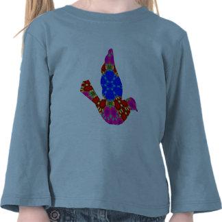 Pájaro de lujo cortado camiseta