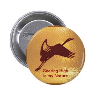 Pájaro de oro - el alto altísimo es mi naturaleza chapa redonda de 5 cm