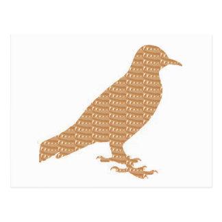 PÁJARO de oro: REGALO BARATO de la decoración Postal