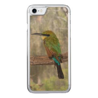 Pájaro del abeja-comedor del arco iris, Australia Funda Para iPhone 8/7 De Carved