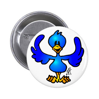 Pájaro del azul de Twittering Pins
