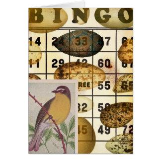 Pájaro del bingo tarjeta de felicitación
