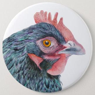 Pájaro del corral de la acuarela del pájaro del chapa redonda de 15 cm