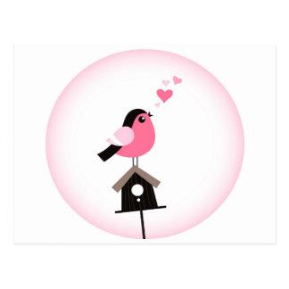 Pájaro del cuco que llama la postal de los