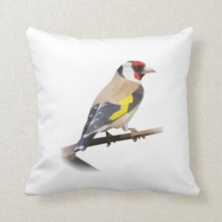 Pájaro del Goldfinch Cojín Decorativo