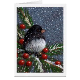 Pájaro del Junco del navidad, lápiz del color: Tarjeta De Felicitación